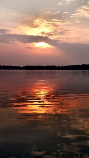 Wildfire Sunset Sunset Reflection Landscape Cloud - Sky Horizon Over Water Water Lake Dramatic Sky