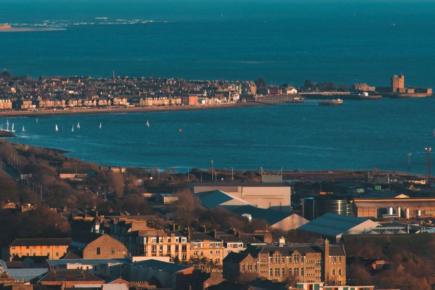 Broughty Ferry VisitScotland Scotland Lovegreatbritain Dundee Visit Dundee Broughty Ferry Broughty Castle Teal And Orange Orange And Teal Seaside Town No People