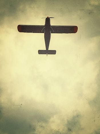 Fly Airplane Wings Sky Tire Propeller Above In The Air Sky_collection Old Airplane