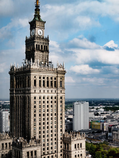 Palace Of Culture And Science In Warsaw Warsaw Architecture Building Exterior Built Structure City Cityscape Cloud - Sky Day No People Outdoors Palace Of Culture Sky Tower Travel Destinations EyeEm Selects