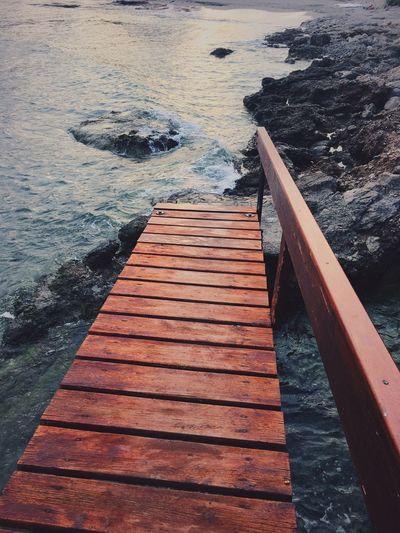 Water Sea No People Sungoesdown Mallorca Canyamel Baleares Waves Waves And Rocks Bridge Wood - Material Salty Air Saltywater Lostplaces