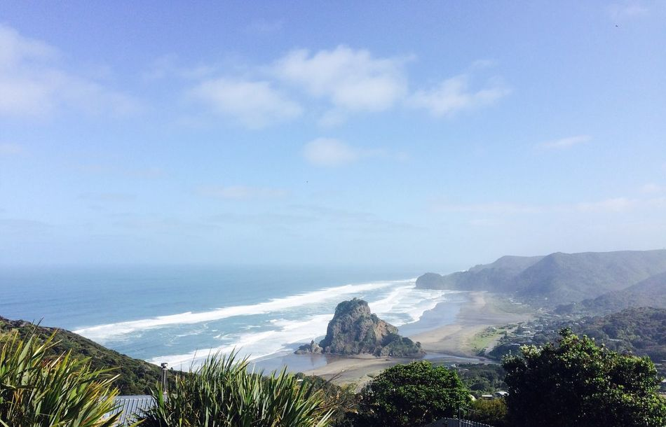 Panoramic view of the Lion's Rock Relaxing Taking Photos Nature Ocean View Sky And Clouds Summertime Lion Rock Auckland