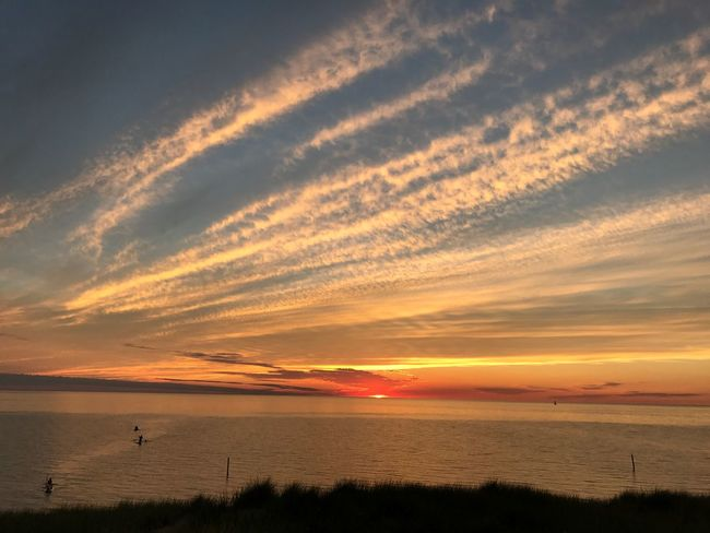 Sunset Sea Beauty In Nature Scenics Water Tranquil Scene Nature Sky Tranquility Horizon Over Water Orange Color Beach Silhouette Cloud - Sky Idyllic Outdoors Vacations No People Lake Michigan