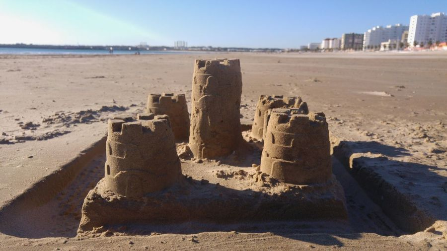 Conquer the castle! Enjoying Life Summer Home Is Where The Art Is Creativity Sand Castle Beach Life Build Fun Landscape Relaxing Life EyeEm Nature Sunset SPAIN Valdelagrana