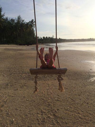 Chanelle Swing Coconut Beach Khao Lak Khaolak Thailand Life On The Beach Enjoying Life