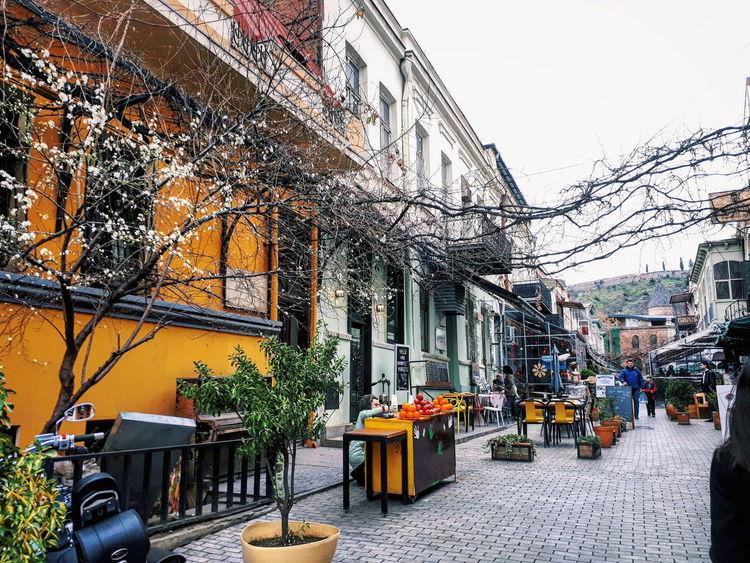 #explore #MobilePhotography #colors #streetphotography #street #spring #springtime #photography #Georgia #Tbilisi City Architecture Sky Building Exterior Built Structure