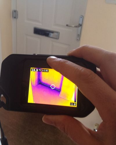 Thermo Thermal Thermal Image Thermographic Thermography Energy Survey Surveyor Surveying Home Heat Loss Hot Cold thermographic Camera Inspection Science Tool Trade Close Up Technology