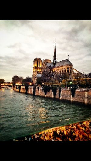 France Paris Notre-Dame Bridge Love