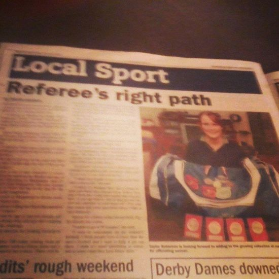 Article in News Weekly :D Newspaper Article Me Readit refereeing