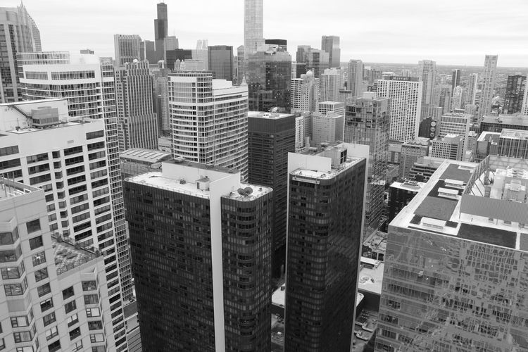 Chicago from up top Chicago Chicago Architecture Building Exterior Built Structure Architecture City Building Cityscape Office Building Exterior Tall - High Skyscraper Residential District Tower Modern No People Sky Office City Life Landscape High Angle View Urban Skyline Outdoors Financial District  Blackandwhite Cityscape