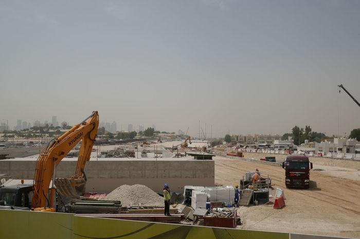 Doha Road Construction The Pearl Qatar Artificial Island New Building  Qatar Road Construction Machine