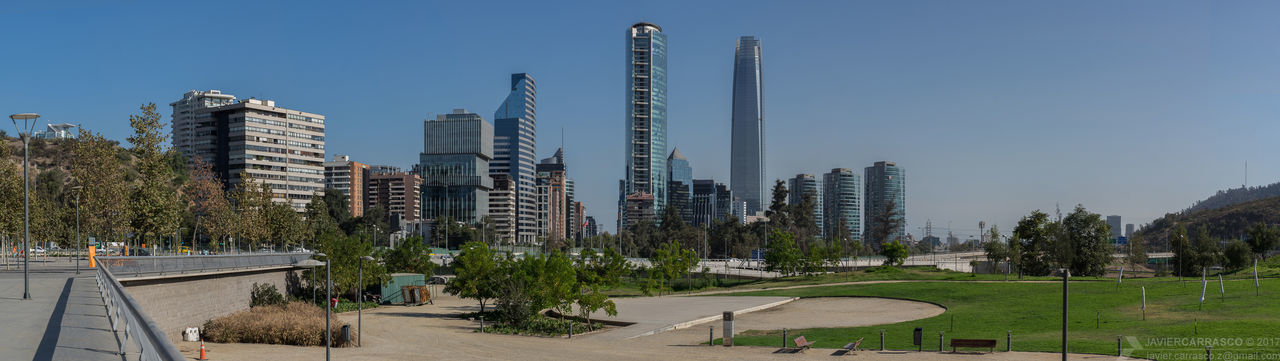 Skyscrapers Pano. Best seen fullsize. Architecture Skyscraper Sky Clear Sky Urban Skyline Cityscape Day DSLR Pentaxian Pentax K-3 Pentaxero Dslrphotography Santiago Chile Panoramic Pentax Downtown District Telephoto Buildings