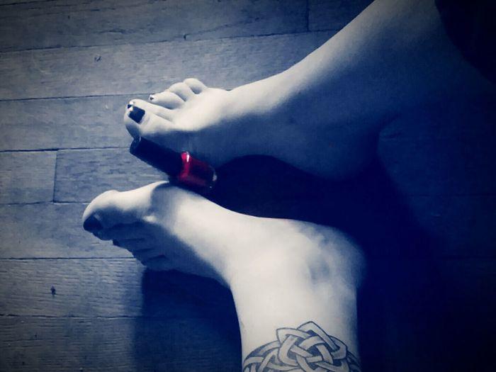 Feet Paintedtoenails Ankletattoo Colorsplash