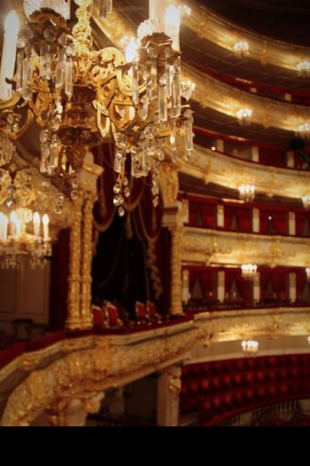 Royal Royal Box Lighting Equipment Indoors  Built Structure Architecture Illuminated Luxury Arts Culture And Entertainment No People Baroque Style Decoration Moscow Bolshoi Theater Bolshoi Theatre Golden Russia Chair Theater Theatre Seats Gold Colored Gold Beauty Electric Lamp Seats