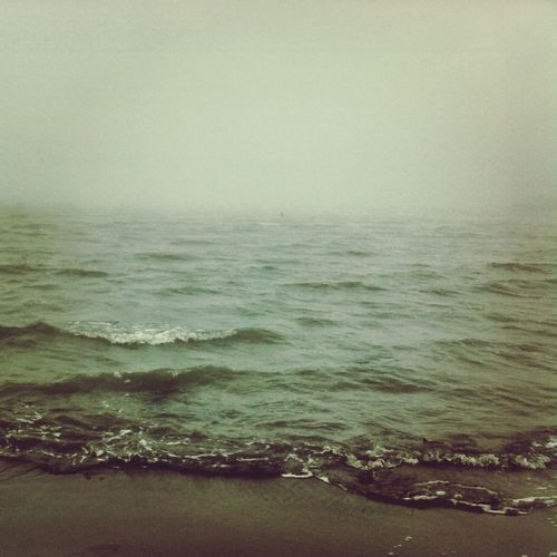 when the sea was angry ....