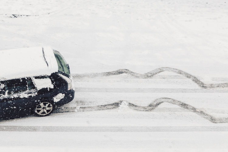 Hope Ice Road Traffic Winter Beauty In Nature Car Challenge Cold Temperature Danger Dangerous Destination Goal Hazard Icy Journey No People Outdoors Perseverance Safety Skid Skidmarks Snow Snowing Tyre Tracks