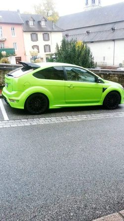 Mycar<3 Ford Focus 305hp First Eyeem Photo Green Green Green!  Sport Cars Puissance Ford focus Rs 305 chevaux ma passion ♥