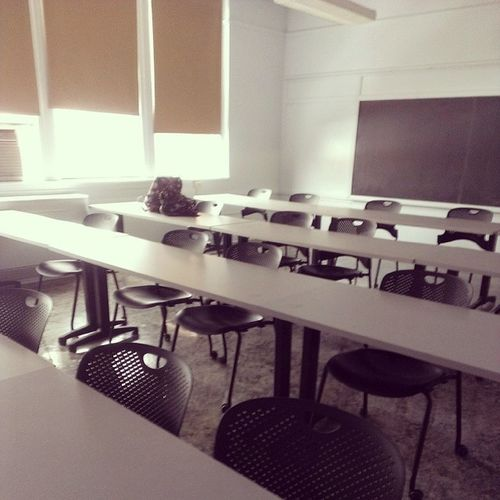 Do you get brownie points for being the first in class? Not in college . College Somanyrollychairs