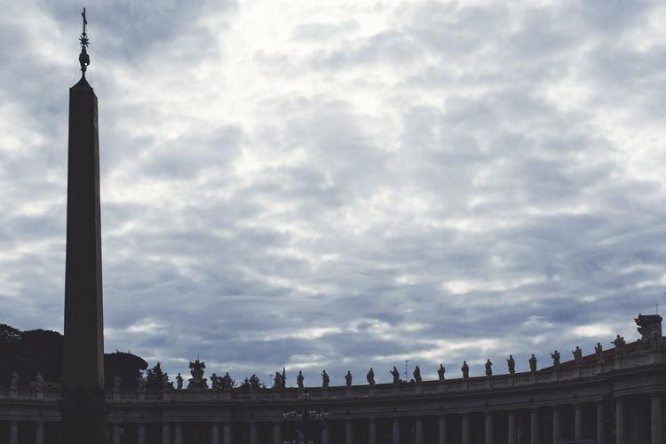 San Pietro In Vaticano Ancient Civilization Architecture Building Exterior Built Structure City Cloud - Sky Day History Low Angle View Nature No People Outdoors Sculpture Sky Tourism Travel Destinations