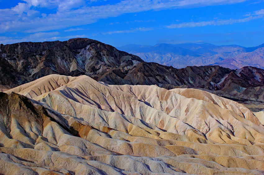 Death Valley Desert Harsh Landscape Rugged Landscape Serene Outdoors Stark Beauty Textured Landscape Tranquility