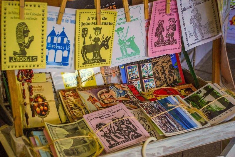 Text Book Street Vendor Popular Market Cordel Tradition Traditional Northeast Maceió Brazil