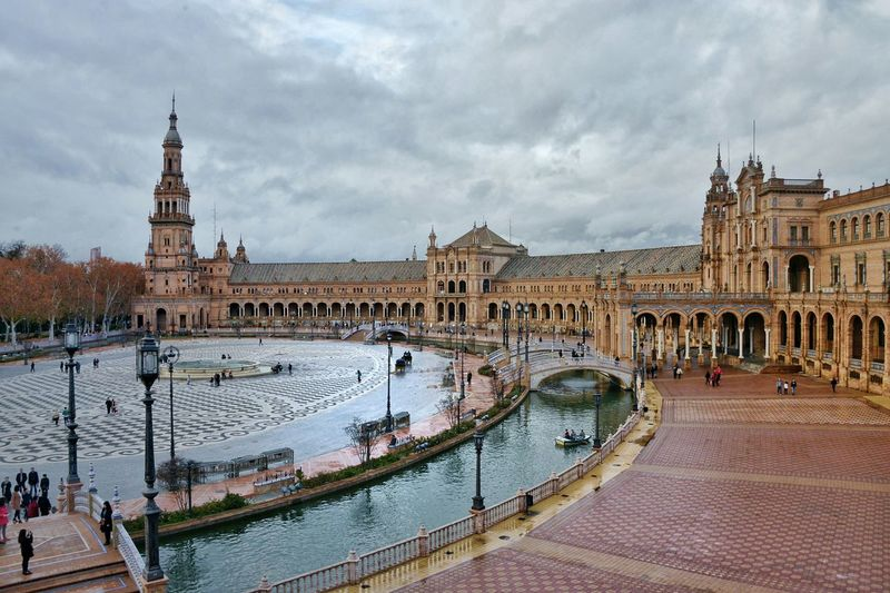 I love this plaza! Public Places Outdoors Plaza De España From My Point Of View Architecture Hello World SPAIN Quiet