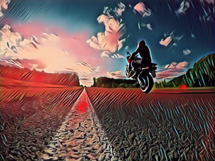 Effect, Yamaha, Wheely, Road Power Straight Effect Akrapovic Yamaha R1 Wheelie Transportation Sport Mode Of Transportation Motorcycle Motion Bicycle Speed Skill  Riding Sky Ride Adult