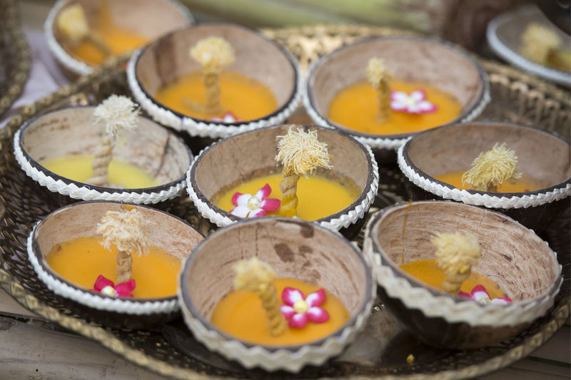 Close-Up Of Diyas In Plate
