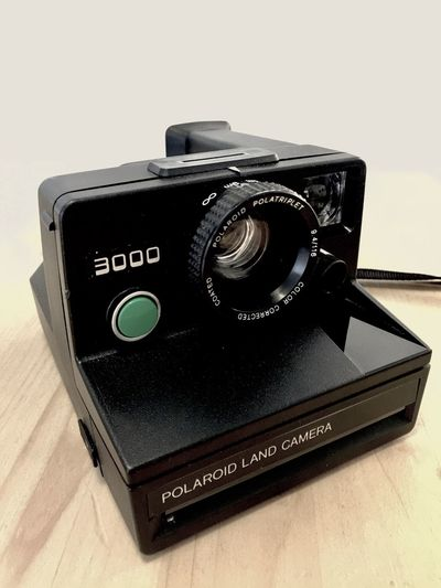 Photography Themes Black Color Technology Electronics Industry Close-up Polroid Camera - Photographic Equipment Camera - Photographic Equipment