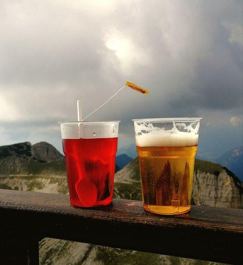 Break time Beer Tea Red Tea Raspberry Raspberry Tea Low Temperature Wind Mountain Mountain Walk Walk Drink Cold Temperature Liquid Red Beer Glass EyeEmNewHere