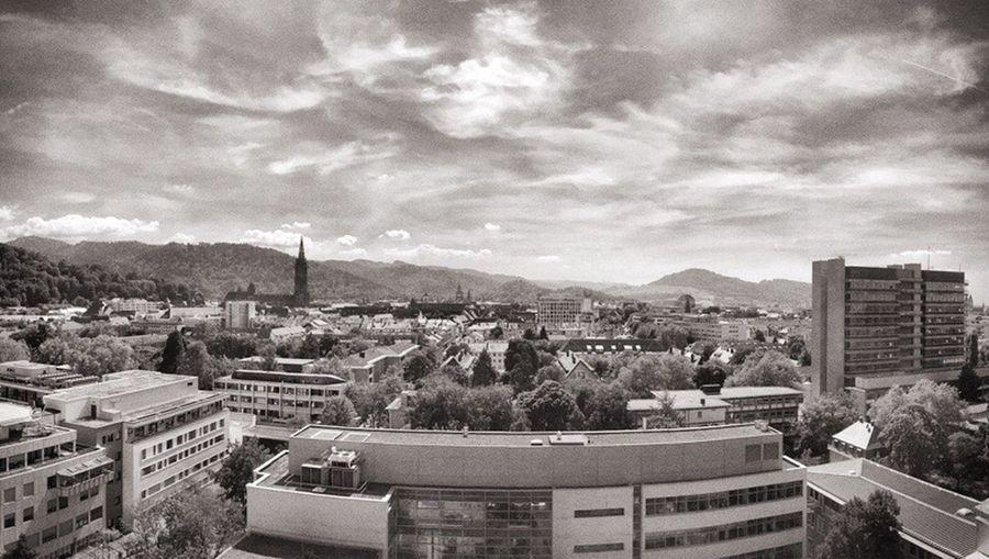 Sky Freiburg Skyline Blackandwhite Student Medicine Cityscape Chilling University Blackforest Life