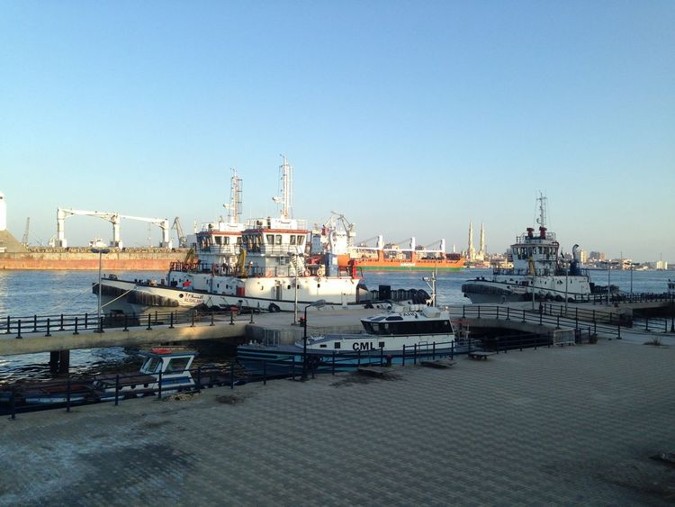 Architecture Built Structure Clear Sky Day Harbor Mode Of Transport Moored Nature Nautical Vessel No People Outdoors Port Port Said Sea Sky Transportation Water