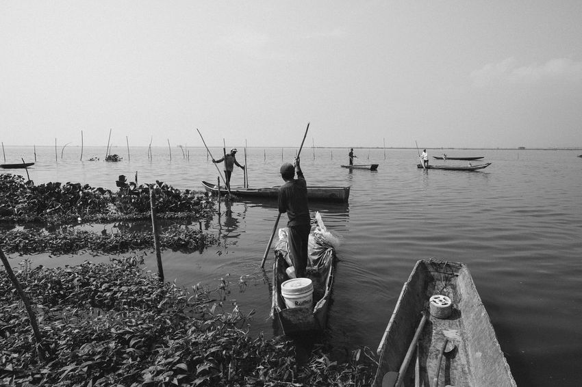 To Venture a Lake Eyeem Philippines EyeEm Best Shots Black And White Monochrome Documentary Editorial  Monochrome _ Collection Philippines Fishermen Shades Of Grey
