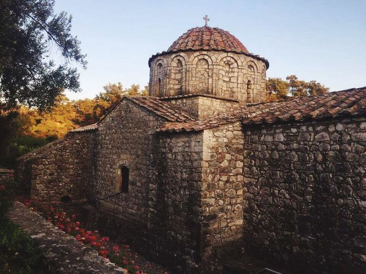 Architecture Built Structure Religion Day No People Tree Outdoors Place Of Worship Building Exterior Ancient Monastery Orthodox Orthodox Christian Monastery Orthodox Monastery Countryside Peace And Quiet Peaceful Tranquility Travel Destinations Greece Greek Islands Rhodes