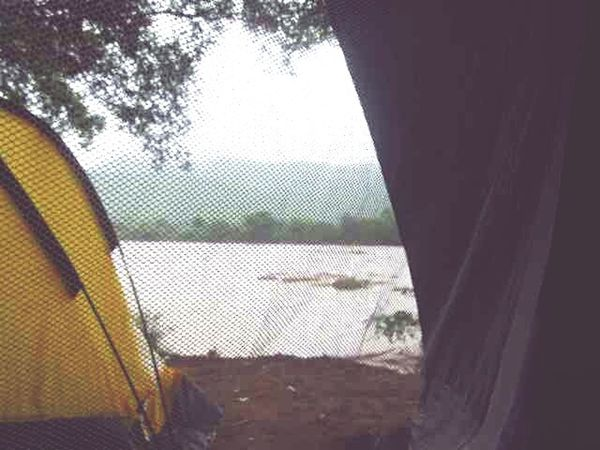 Camping River Rain Nature Raining Relax