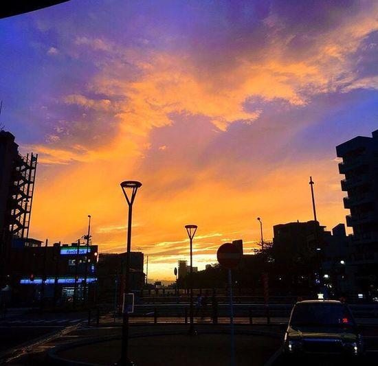 Sunset Street Light Sky Cloud - Sky Elimination JapanLife Tokyo,Japan
