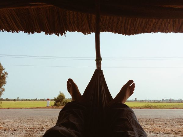 On the way back to home town Rest Relax Relaxing Summer Feet Enjoying Life Holiday Paddy Field Rice Field Ricefield Summertime Feets Foot Human Body Part Green Noon Vietnam Agriculture Farm Rural Countryside