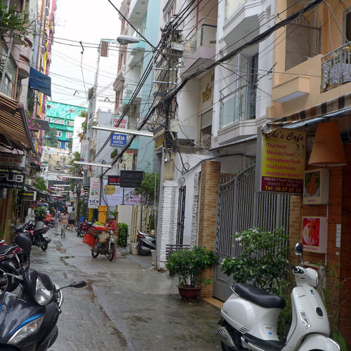 Street view Ho Ch Minh City Architecture Building Exterior City City Life Ho-Chi-Minh City Narrow Street Residential Building Residential District Residential Structure Saigon Straßenfotografie Street Street View Urban Vietnam