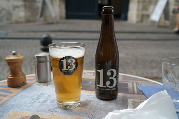 Unlucky for some... 13 Belgian  Bottle Drinking Glass Pils