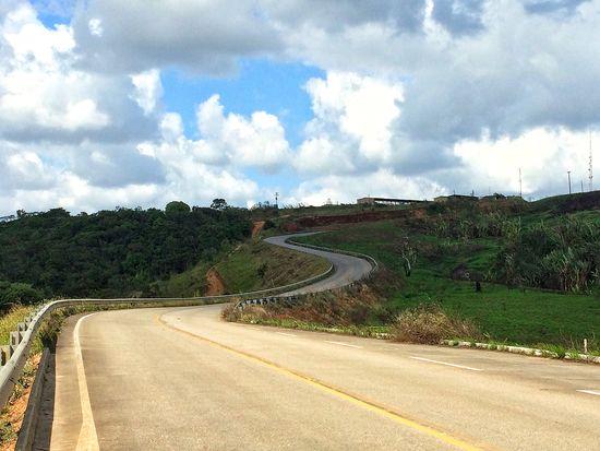 Road Way Landscape Green