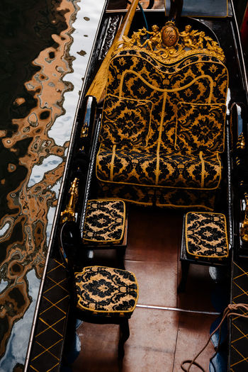 Venice Venice, Italy Indoors  High Angle View Seat Pattern Architecture Chair Flooring No People Tile Creativity Arts Culture And Entertainment Tiled Floor Music Metal Shoe Day Close-up Ornate Floral Pattern