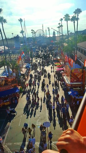 Live Love Shop Del Mar Fair Sky Ride Food Courts Booths Rides Faris Wheel Birds Eye View