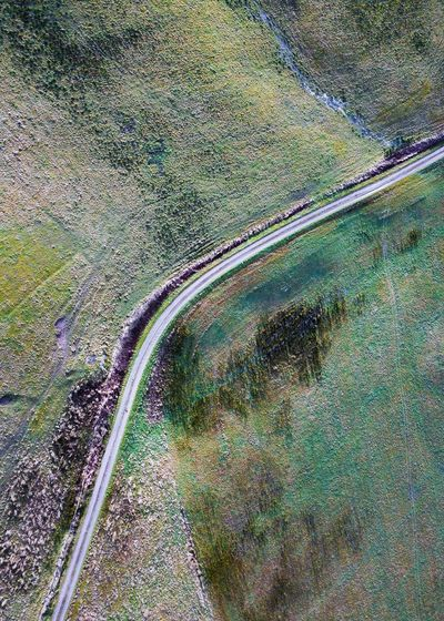 Etching and sketching. Road Transportation High Angle View Landscape Winding Road Nature Scenics Beauty In Nature No People Aerial View Curve Tranquility Day Outdoors
