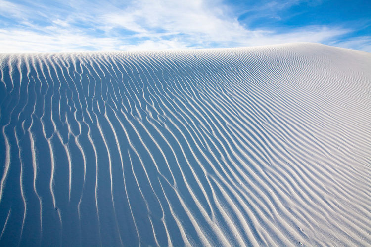 Cloud - Sky Sky Day Scenics - Nature Nature Water Environment Landscape Land No People Beauty In Nature Sand Pattern Tranquility Desert Rippled Wave Pattern Outdoors Natural Pattern Climate Arid Climate Newmexico Dune