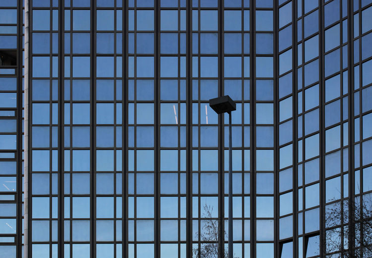 facade in Strasbourg No People Low Angle View Pattern Full Frame Architecture Day Built Structure Indoors  Lighting Equipment Ceiling Metal Window Hanging Grid Backgrounds Close-up City Blue Directly Below Electric Lamp Facade Building Strasbourg Architecture