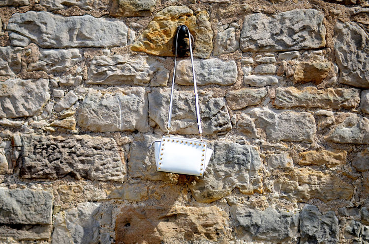 Castle Castles Fashion Wall Architecture Bag Brickwork  Built Structure Castle Walls Close-up Day Handbag  Handbags Nature No People Outdoors Stone Stone Material Textured  Wall - Building Feature Walls