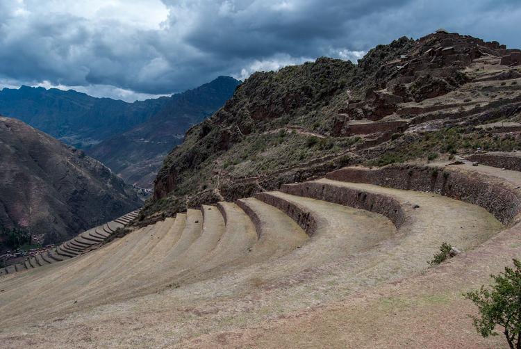 Terraces Terrace Beauty In Nature Cloud - Sky Curve Day Landscape Mountain Mountain Range Nature No People Outdoors Road Scenics Sky Terraced Field Tranquility Winding Road