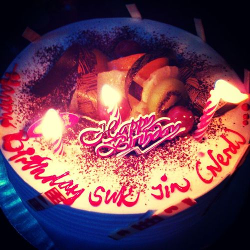 heyyyyahhh... it's my Bithday ..and this is my Birthday Cake November Baby ^^