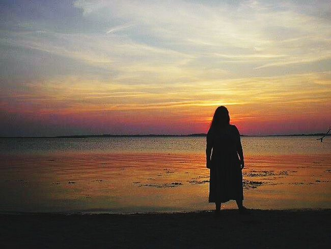 PeopleOfTheOceans Colour Of Life People And Places. Denmark Beach Sunset Silhouettes