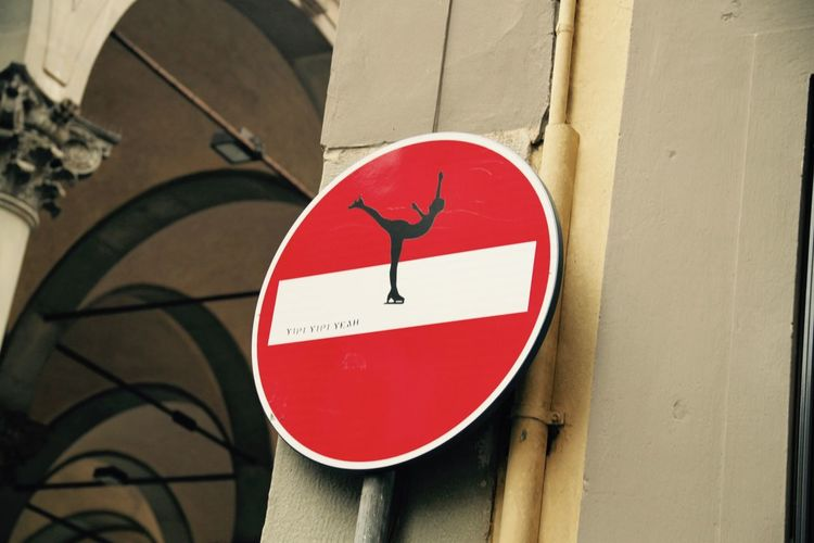 Architecture Art Built Structure Circle Close-up Communication Danger Firenze Florence Florence Signs Guidance Italy No People Outdoors Red Road Sign Sign Symbol Warning Sign